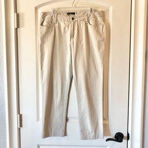Khacky stretch Capri pants